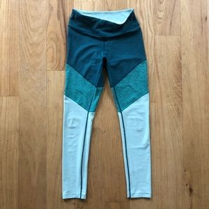Outdoor Voices colorblock tights
